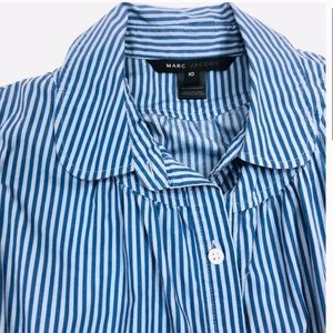 Marc Jacobs Tops - Marc Jacobs Blue Striped Shortsleeved Blouse